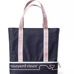vineyard vines x Target Navy Whale Line Beach Bag